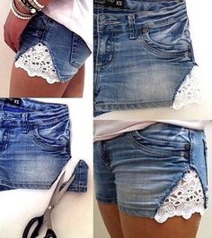 DIY: lace shorts!