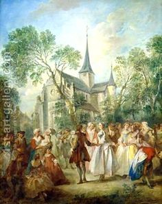 Nicholas Lancret - The wedding Dance