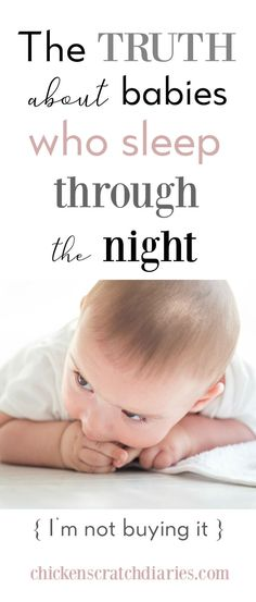 -Getting baby to sleep through the night is truly one of the hardest things about the baby years! This is too funny! #MomLife #Parenting #Humor