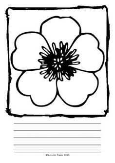 Free printable poppy remembrance day craft with printable