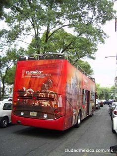 Turibus en las calles de la Ciudad de México