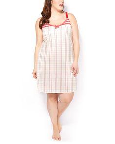 Ti Voglio Sleeveless Printed Sleepshirt with Lace  penningtons Stylish  Plus bf420aca3