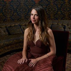 Sutton Foster in the TodayTix Tony Awards photo lounge at the O&M after-party at The Carlyle. Photo by Amy Arbus.