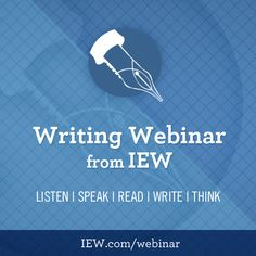 Writing Webinars from IEW