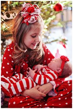 Sibling introduction girl winter girl birth announcements in