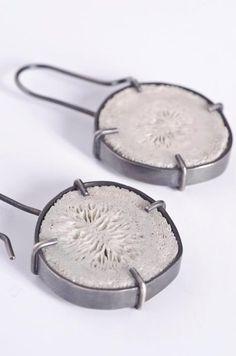 I love the handmade irregularity of these earrings -  Teresa Milheiro