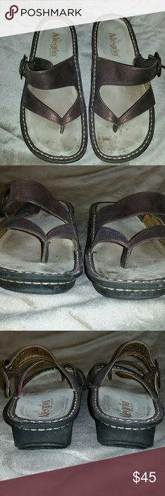 836c19947223 Alegria Valentina Thong Comfort Sandals 40 9.5-10 Alegria Valentina Bronze  Leather Comfort Thong