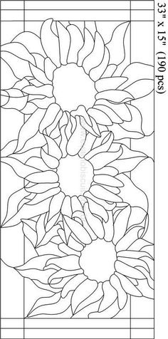 Stained Glass Sunflower Pattern