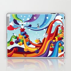 Open up Laptop & iPad Skin by Vera Moire