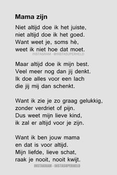 Mama Quotes, Life Quotes, Qoutes, Quotes For Kids, Family Quotes, The Words, Cool Words, I Love My Daughter, Dutch Quotes