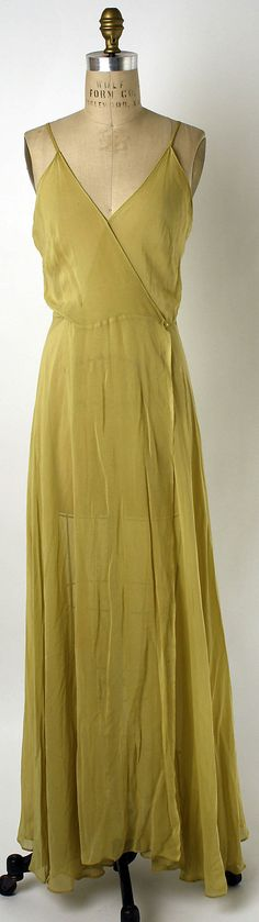 Lingerie Date: ca. 1935 Culture: American Medium: synthetics, glass. Front