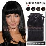 20 Inches 8pcs Clip-in Human Hair Extensions Straight (#P1B/613)
