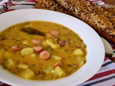Hustá Šošovicová Polievka Food 52, Kimchi, Cheeseburger Chowder, Quinoa, Food And Drink, Cooking, Soups, Nova, Bulgur