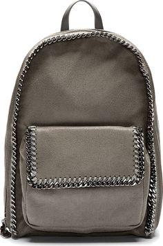 Stella McCartney Grey Shaggy Deer Backpack
