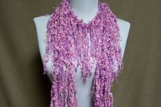 Fringe Binge Scarf Necklace in Shades of Sparkly by pflumsthumbs, $25.00