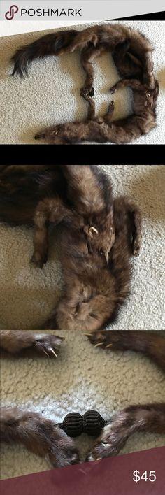 Vintage mink stole Vintage mink stole excellent condition.  It's a beauty Accessories Scarves & Wraps