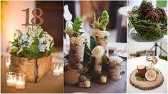 Mariage hiver decoration table centre de table sapin cone pomme de pin wedd - Deco mariage bucolique ...