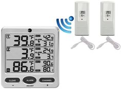 Weather Thermometers - Ambient Weather WS09 8Channel Wireless Refrigerator  Freezer Thermometer Alarm Set -- To view further for this item, visit the image link. (This is an Amazon affiliate link)