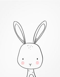 Shop Bunny Woodland Animal Nursery art Black and white Poster created by Anietillustration. Bunny Nursery, Woodland Animal Nursery, Woodland Animals, Nursery Art, Nursery Drawings, Baby Animal Drawings, Simple Animal Drawings, Bebe Love, Black And White Posters