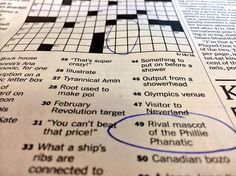 Mr. Met finally makes it big, gets featured in The New York Times crossword puzzle