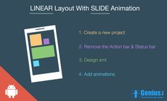 Linear Layout With Slide Animation.. #linear # layout #android #igeniusdev