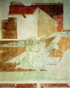 'scènes de `monastic` vie', fresques de Paolo Uccello (1397-1475, Italy)