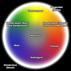 An interesting way to visualize non-binary gender identity. #Genderqueer
