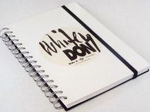 Tagebuch Schallplatte,White Vinyl Notizbuch