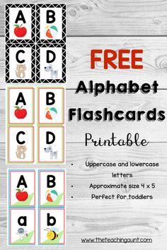 Alphabet Flashcards Free Printable Letter Flashcards, Alphabet Cards, Alphabet Book, Alphabet Worksheets, Learning The Alphabet, Printable Flashcards, Alphabet Posters, Printable Alphabet, Printable Party
