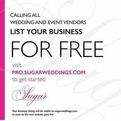 Please tag as many vendors as you can to be part of this ! #sugarweddings