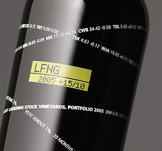 Laughing Stock Vineyards - interesting typographic approach to label design