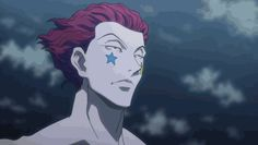Hunter x Hunter ~ GIF of Hisoka finding out that he can't fight the Phantom Troupe leader, Chrollo Lucilfer