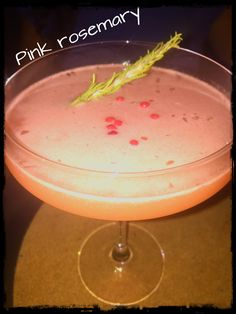 Pink Rosemary cocktail!!! Best place to be!!!!