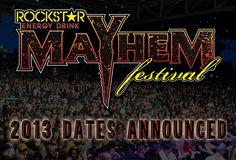 [News] Mayhem Festival 2013: Dates Announced