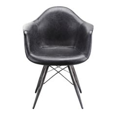 Take a seat in the wide, comfortable expanse of the Flynn Club Chair. Based on a famous mid-century modern frame design that's married to industrial materials, this handsome chair is a great addition t...  Find the Flynn Club Chair, as seen in the The Dark Side of Mid-Century Collection at http://dotandbo.com/collections/the-dark-side-of-mid-century?utm_source=pinterest&utm_medium=organic&db_sku=109422