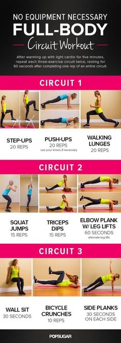 No Equipment Total-Body Circuit Workout
