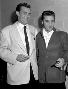 "Elvis & Merle Kilgore - A tall, skinny singer from Shreveport sidled up to the new sensation-- ""I said, 'Hello, Elvis, my name is Merle Kilgore.' He turned around and said, 'Oh, you worked with Hank Williams.' I said, 'Yeah.' He said, 'You wrote ""More and More"".' I said, 'Yeah.' He said, 'I want to meet Tibby Edwards.' It was the first thing he said to me. I said, 'He's my buddy, we room together here in Shreveport.'  That's how we got to be friends."""
