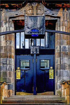 Door of Glasgow School of Art by Charles Rennie Mackintosh. Door of Glasgow School of Art by Charles Rennie Mackintosh. Door of Glasgow School of Art by Charles Rennie Mackintosh. Charles Rennie Mackintosh, Portal, Art Nouveau, Gates, When One Door Closes, Glasgow School Of Art, Door Gate, Glasgow Scotland, Unique Doors