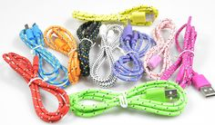 1M/2M3M Braided Fabric Micro USB Cord Data Sync Charger Cable For Android Smart Phone for tablet PC