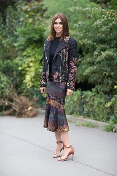 Carine Roitfeld in Givenchy street style Paris Fashion Week 2014