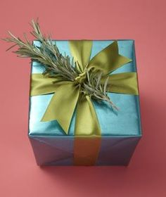 Spruce up a wrapped gift. Tuck pretty sprigs into the ribbon in place of a bow.