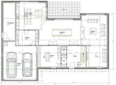 En groot modern huis indelen .... is niet zo simpel. | Bouwinfo Little Dream Home, Villa, House Extensions, Small House Design, Dream House Plans, Architecture Plan, House Layouts, Classic House, House Goals