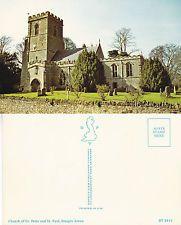 1960's CHURCH OF St PETER & St  PAUL STEEPLE ASTON OXFORDSHIRE COLOUR POSTCARD