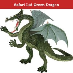 Safari Ltd Green Dragon. Green Dragon replica in ancient times dinosaur fossils was thought to be dragons that breathed fire and inhabited the primeval forests. Even though we now know that the fossils found were of dinosaurs and not dragons, children still have a passion for this fantasy world of knights and giant green dragons. Products are phthalate-free and thoroughly safety tested to safe guard your child's health. Safari Ltd takes pride in providing breathtaking, Innovative figures…