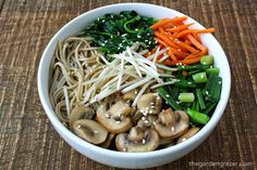A satisfying Asian Noodle Soup loaded with flavorful veggies. Minimal effort but maximum enjoyment! Perfect for busy nights! (vegan, gluten-free option)