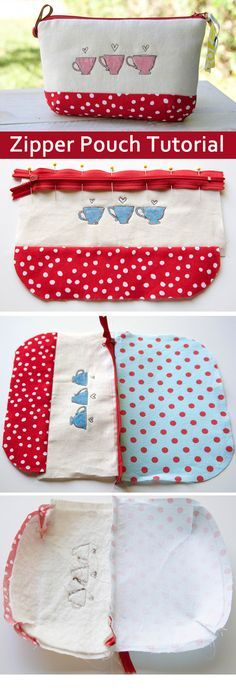 How to make a zippered Pouch. DIY Photo Tutorial. http://www.handmadiya.com/2015/10/zipper-pouch-tutorial.html