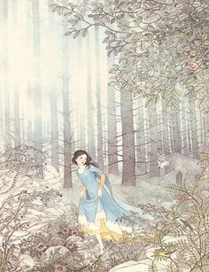Snow white by Nancy Ekholm Burkert Art And Illustration, Book Illustrations, Fairy Land, Fairy Tales, Fairytale Art, Pretty Pictures, Book Art, Fantasy Art, Drawings