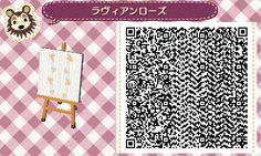 gaming QR code animal crossing new leaf new leaf acnl able sisters qr pattern acnl qr code qr design qr dress