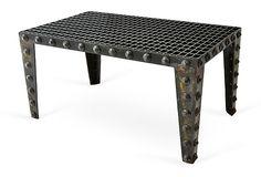 This is so cool! Repurposed Grate Coffee Table on OneKingsLane.com