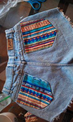 fabric on pockets!